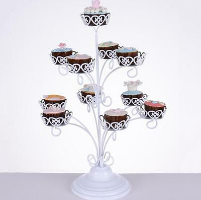Wedding White Cupcake Stand Cupcake Tower Wedding Cupcake Holder for 11 Cupcakes