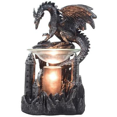 Mythical Winged Dragon Guarding Castle Electric Oil Warmer or Wax Tart...