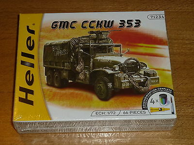 Heller GMC CCKW 353 1/72 scale plastic model kit + paint, glue and brush