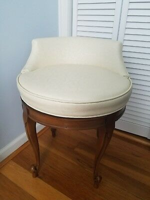 Vintage French Provincial swivel vanity stool