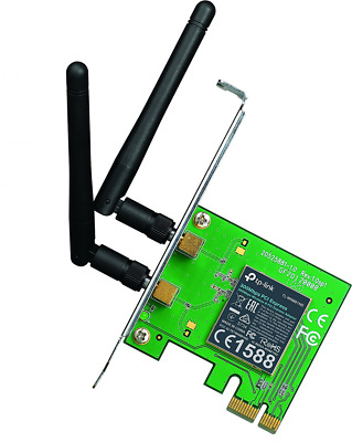 TP-Link TL-WN881ND Adaptateur PCI Express Wi-Fi N 300 Mbps avec Equerre Low Prof