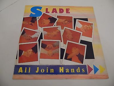 """SLADE . ALL JOIN HANDS . 12"""" 45rpm EP Record . 1984 . Rock . RCA Records."""