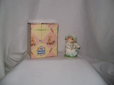 """My Blushing Bunnies """"Tea and Friendship Hit The Spot""""  Daisy Hare 1998 By Enesco"""