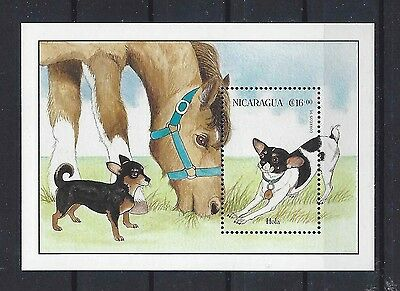 Art Postage Stamp SMOOTH COATED CHIHUAHUA TOY FOX TERRIER DOG Souvenir Sheet MNH