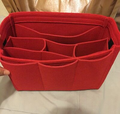 Neat Bag Organizer / Shaper For Louis Vuitton Neverfull MM Red