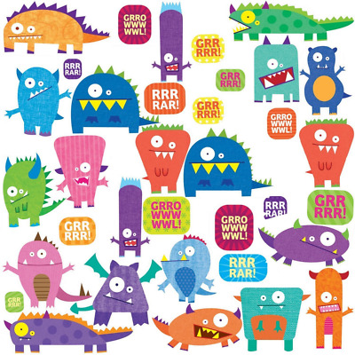 RoomMates Stickers muraux repositionnables Enfant Monstres