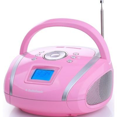 AUDIOSONIC RD-1566 Radio stéréo USB/SD/MP3 Rose