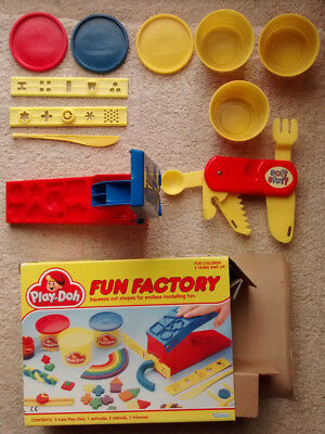 Vintage Boxed Play Doh Fun Factory with additional multi-tool