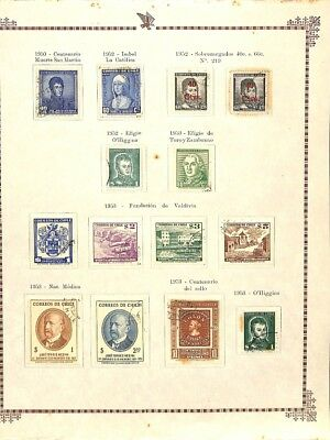 [OP3286] Chile lot of stamps on 12 pages - see photos in description
