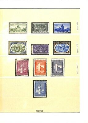 [OP3310] Vatican lot of VF MNH stamps on 12 pages - see photos in description