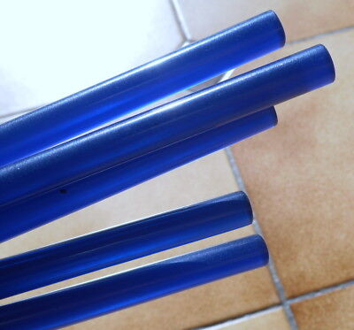 Beautiful rare lot of galalith Blue translucent 5 rods 90 grams