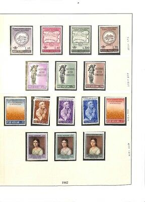[OP3314] Vatican lot of VF MNH stamps on 12 pages - see photos in description
