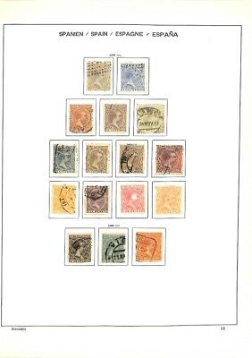 [OP3330] Spain lot of stamps on 12 pages - see photos in description