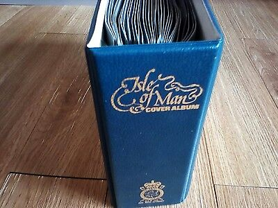 Vintage 1970's Isle Of Man Stamp Cover Album Definitive Issues