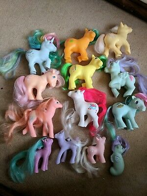 my little pony g1 bundle /job lot x 13 vintage TLC
