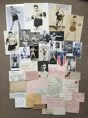 👊🏻41 Vintage Old Boxing Autographs Some Great Rare Names 🥊