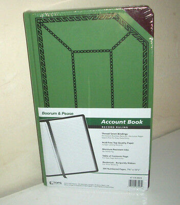 Boorum & Pease Record Account Book, Record Rule, Green, 300 pages,  072156674039