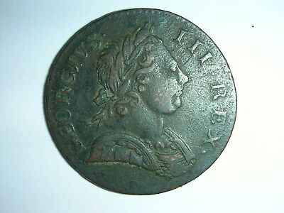 1770 George III Halfpenny Coin - Great Britain