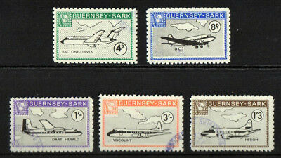 Isle of Sark - Guernsey - Mounted Fine Used 1968 Definitive Perf Aircraft Cat £5