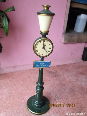 JAEGER-LECOULTRE RUE DE LA PAIX STREET LIGHT 8 DAY LAMP POST CLOCK w/ALARM