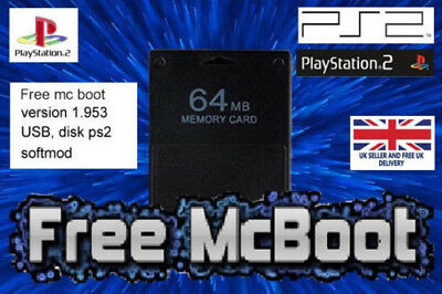 Free McBoot FMCB 1.953 Sony Playstation 2 PS2 Memory Card 64mb with 2000+games