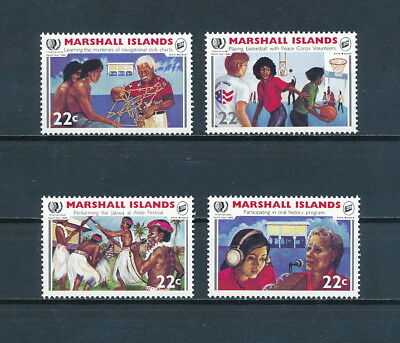 Marshall Is. 78-81 MNH, Youth Year, 1985