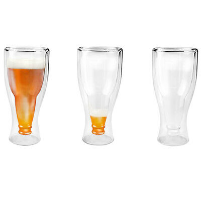 FP HOPSIDE DOWN Double-Walled Longneck Beer Glass