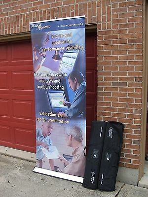 "Portable Trade Show Booth Displays Expand Media 84"" with Case Free Ship"
