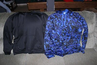 2 Mens Nike Therma Fit Hoodies-Size XL-Black and Camo blue