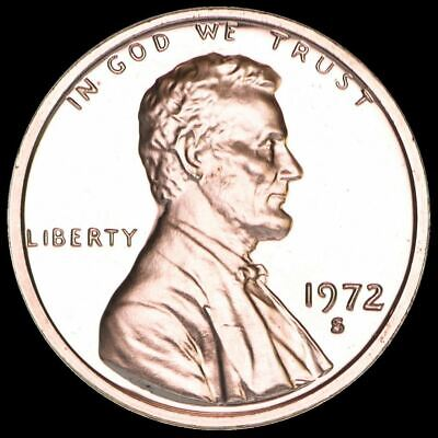 """1972 S Lincoln Memorial Cent PROOF Penny US Mint Coin in """"Beautiful"""" Condition"""