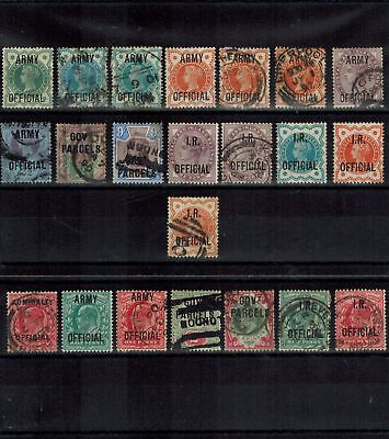 Gb Qv And Kedvii Selection Of Duplicated Official Stamps Mint & Used Condition