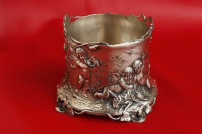 Wmf Art Nouveau Silver Plate Cherubs Scenic Wine Bottle Coaster