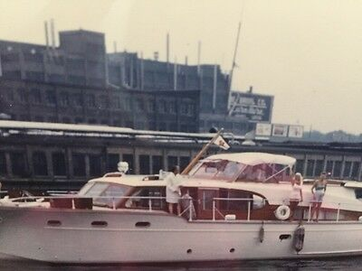 CHICAGO Harbor, Mary Hartline Aboard Flag Flying, 1950's. Autographed to buyer.