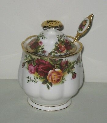 Royal Albert  Old Country Roses Preserve Pot with Matching Spoon