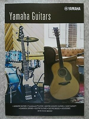 YAMAHA GUITARS 2017 Catalog New F/S From Japan