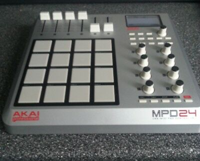 Akai MPD24 USB / MIDI Pad Control Unit. Great Condition, Hardly Used, Upgraded