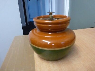 Tobacco Pot Very Old With Sealed Lid - Please Look!
