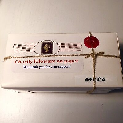 100 grams AFRICA unsorted, unpicked charity kiloware stamp/mixture in SEALED box