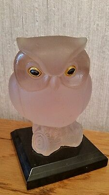Vintage Glass Owl