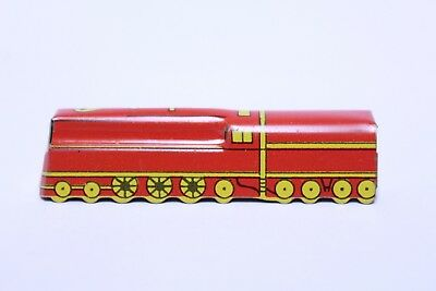 Nice Early Cracker Jack Tin Train Engine Red & Yellow Prize