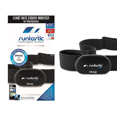 Runtastic Heart Rate Bluetooth Smart Wireless Technology Monitor Combo - Black