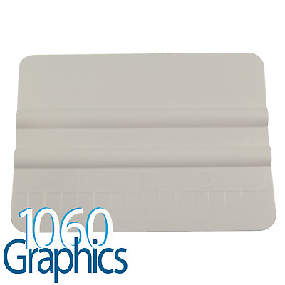 x1 White Plastic Application Squeegee / appyling tool, vinyl decals, window tint