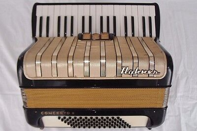 Akkordeon   Hohner Concerto II   accordion 72 Bass schwarz Koffer Tasteninstrum.