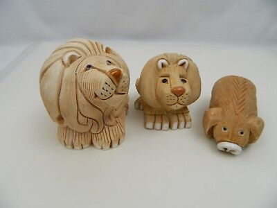 Altesania Rinconada Retired Two Lions & Pig Pre-Owned Very Good