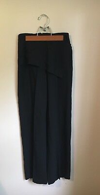 Vintage 90s High Waisted Black Emporio Armani Trousers With Front Flap Sz Sm/M