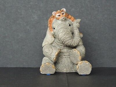 Country Artists Tuskers: 'Love Is A Grrreat Friend' Elephant & Tiger Figurine