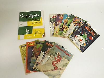 Lot 12 Vintage Kids Magazines Jack and Jill Childrens Digest