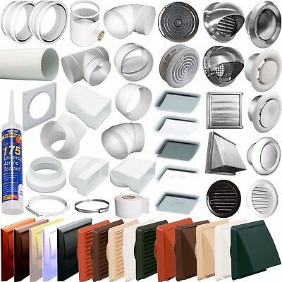 """(5"""") 125mm Round Ducting Ventilation Pipe Fittings -Tubes,grilles, Extractor Fan"""