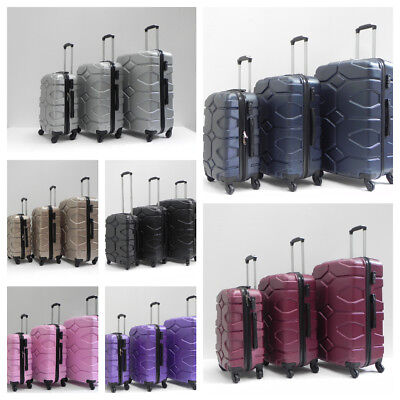 "Lightweight Hard Shell Abs 4 Wheel Luggage Trolley  Cases 20""24""28"""
