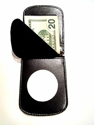 "RFID Texas Peace Officer Front Pocket Badge Wallet ID Credit Card  2 1/8"" Circle"